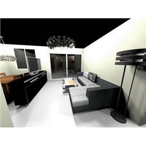 3D圖客廳-世浤國際室內裝修工程有限公司-高雄