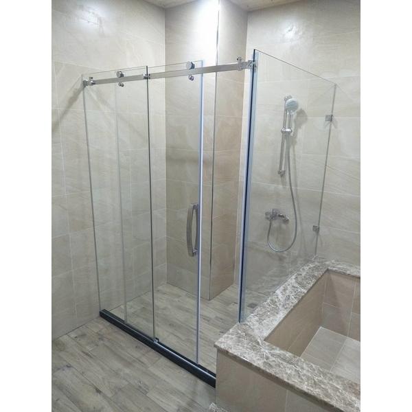 乾濕分離淋浴門-人京典門窗公司-台南