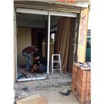 不鏽鋼門框-施工中II