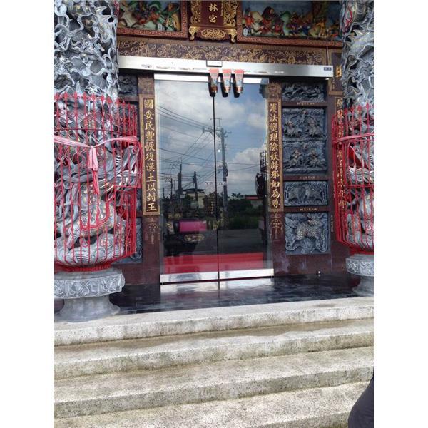 廟宇-白鐵自動門完工圖