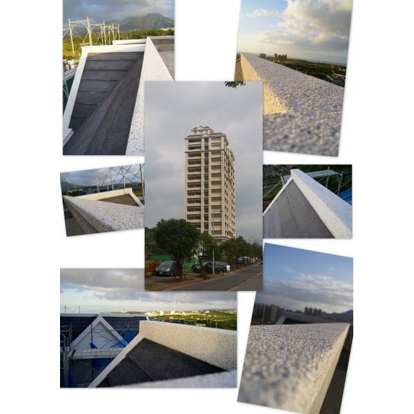 興格建設甜水郡名人賞第二期屋頂造型抿石-大項企業社-新北