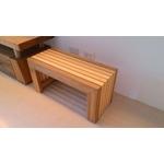 檜木現代穿鞋椅訂製