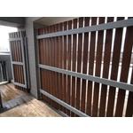 鋼構金檀木木圍籬