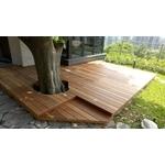 南洋櫸木鋼構木平台