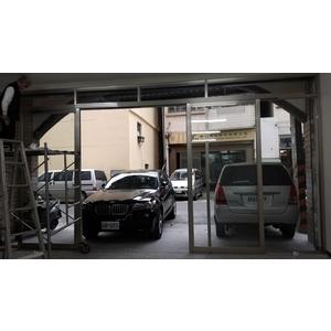 鋁製店面門1