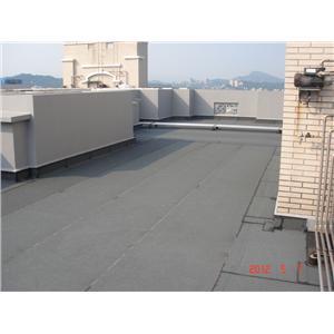 屋頂防水毯施作完成