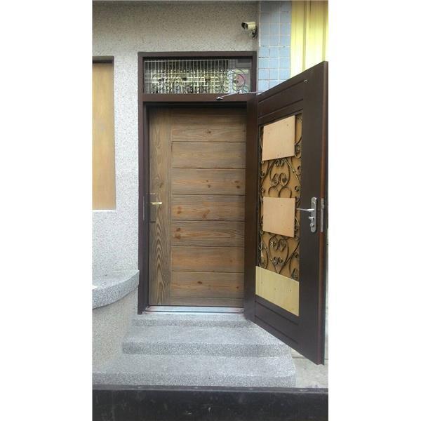 鋼木門安裝實例