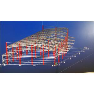 鋼構工程結構圖-頂鉅鋼鐵有限公司-台中