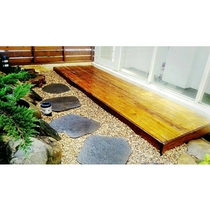 庭園南方松地板舖設