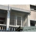 防盜窗+塑鋁板兩棚