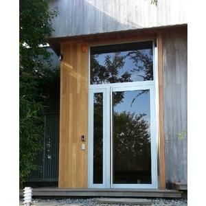 私人住宅玄關門樘(子母門+固定窗)