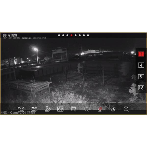 百萬畫素攝影機室外夜間(無燈光)畫質-偉宏電子通訊企業社-屏東
