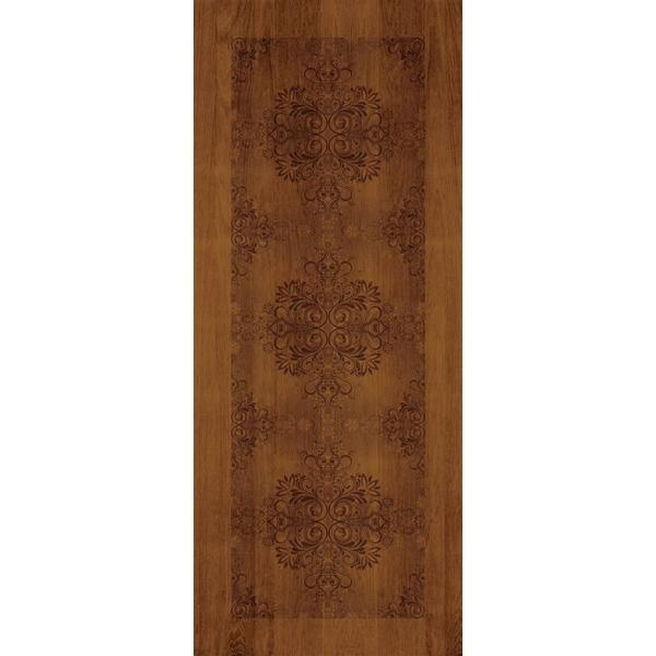 極緻系列-UV彩繪仿木工藝門M系列-柚木色