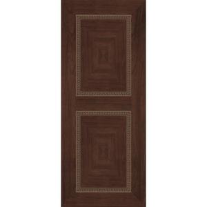 極緻系列-UV彩繪仿木工藝門M系列-胡桃木色-星焱實業股份有限公司-新北