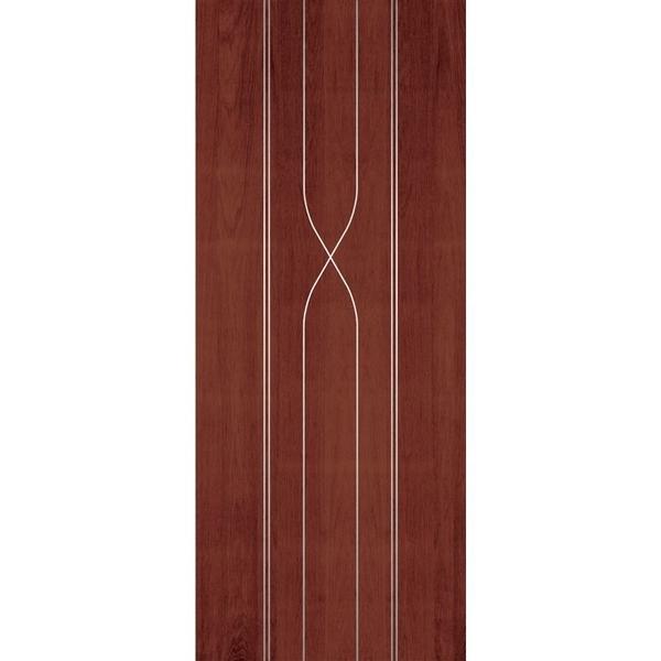 極緻系列-UV彩繪仿木工藝門M系列-櫻桃木色