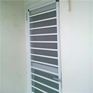 三合一通風門-弘大鋼鋁門窗-台南