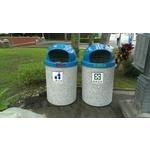 洗石子垃圾桶