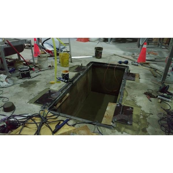 機座基礎槽坑