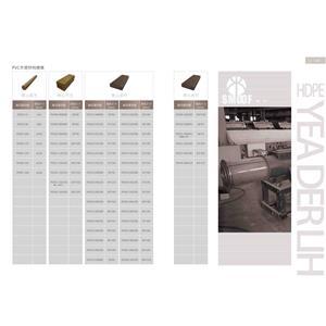 PVC木塑材料總表-1-亞德利塑膠工廠股份有限公司-台南