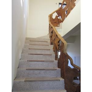 樹根片樓梯欄杆+樹藤扶手-2