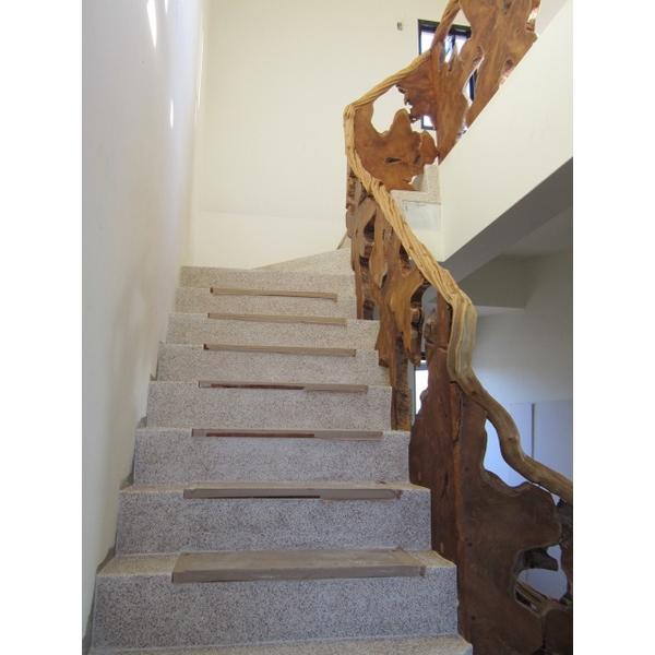 樹根片樓梯欄杆+樹藤扶手-2-振華裝修工程公司-台中
