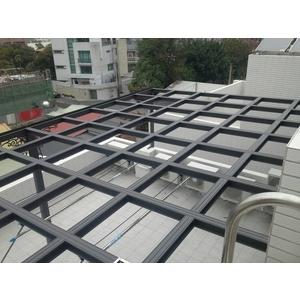 H型鋼採光罩-遠大不銹鋼鋁門窗行-台南