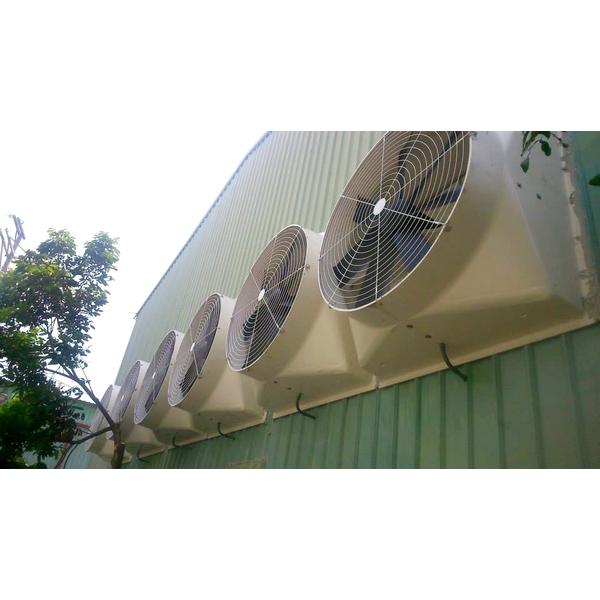 廠房壁掛式大型喇叭扇實裝
