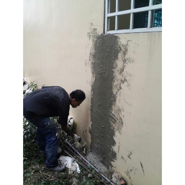 圍牆沉陷裂縫,高壓灌注
