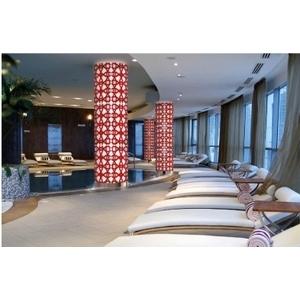 義大利威尼斯彩色島手工玻璃柱子裝置藝術-富田光電有限公司-台中