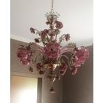 義大利威尼斯彩色島(MURANO)玻璃手工藝術古典吊燈-浪漫玫瑰