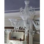 義大利威尼斯彩色島(MURANO)手工藝術吊燈-純白
