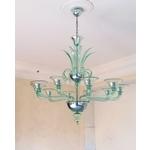 義大利威尼斯手工吊燈簡約線條-綠