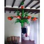義大利威尼斯手工吊燈-現代活力-多彩綠+橘