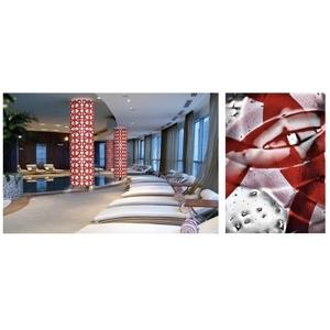 義大利威尼斯彩色島手工玻璃柱子裝置藝術