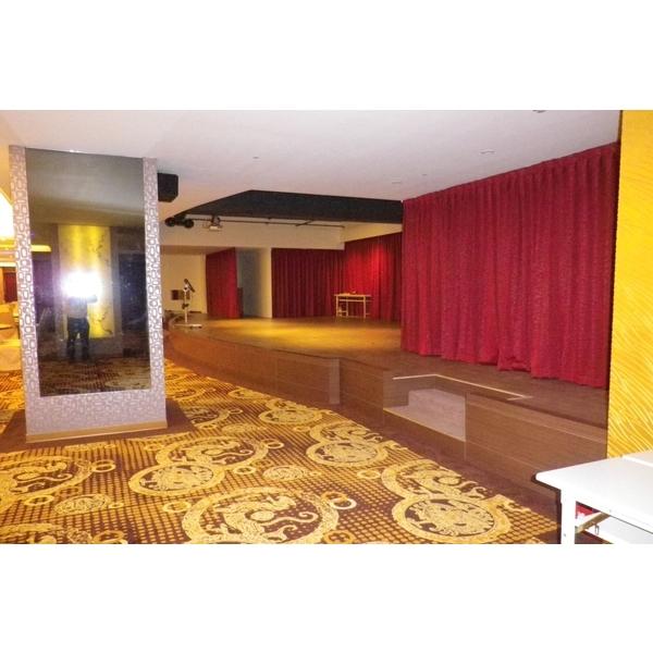 宴會廳舞台區裝潢.