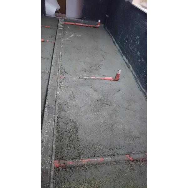 廚房地坪輕質灌漿材墊高-富麗庭室內裝修工程有限公司-高雄