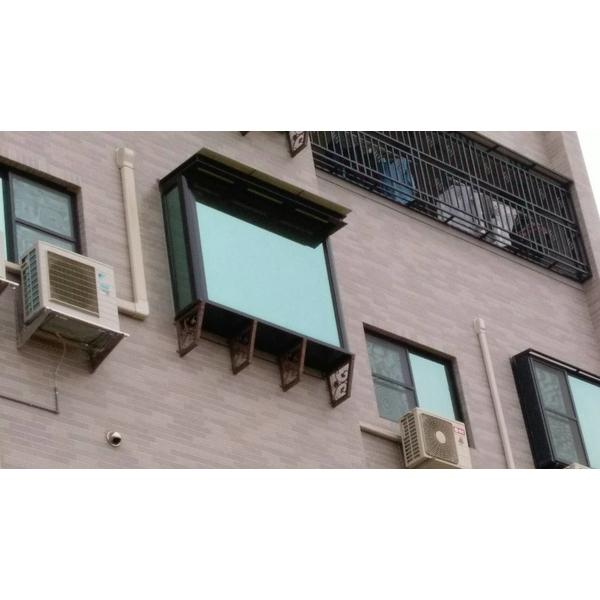 4樓陽台凸窗  景觀固定窗