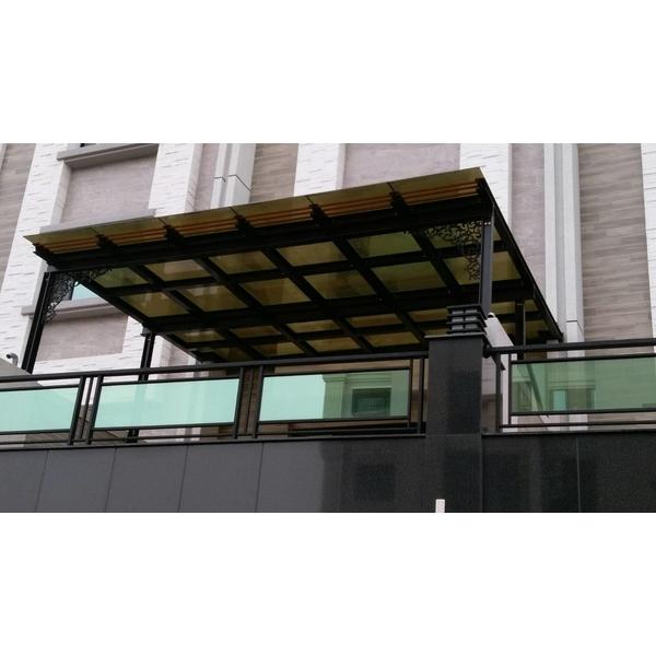 H型鋼鋁採光罩+反射安全玻璃