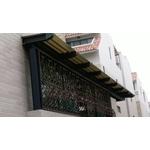 H型鋼鋁採光罩+鍛鐵防盜窗