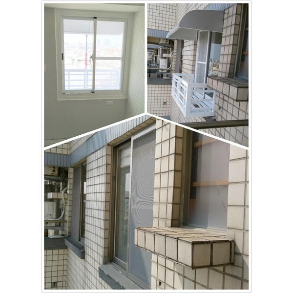 氣密窗 舊換新 乾式施工+雨遮及花架-禾信鋼鋁門窗-台南