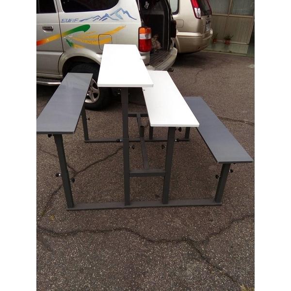 無障礙愛心親子連體室內外桌椅-通好行-台中