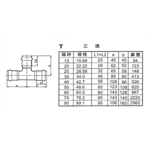 T三通-星灃水電管件企業股份有限公司-台中