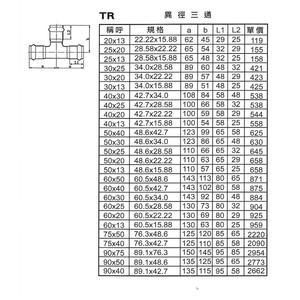 TR異徑三通-星灃水電管件企業股份有限公司-台中