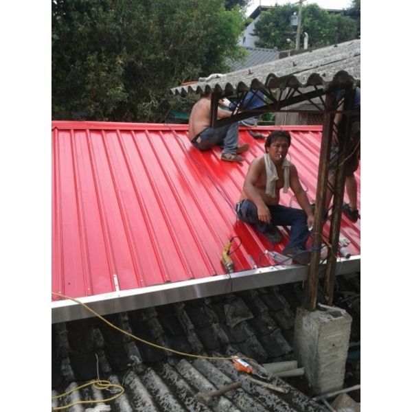 鐵皮屋頂修繕-進興鐵工廠-新北