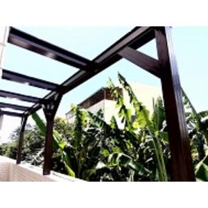 H型鋼玻璃採光罩-楓晟鋁門窗行-台南