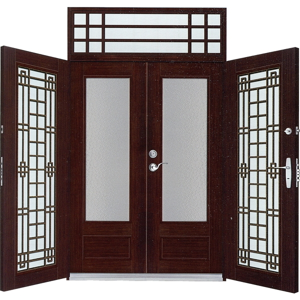 雙玄關門(胡桃木)