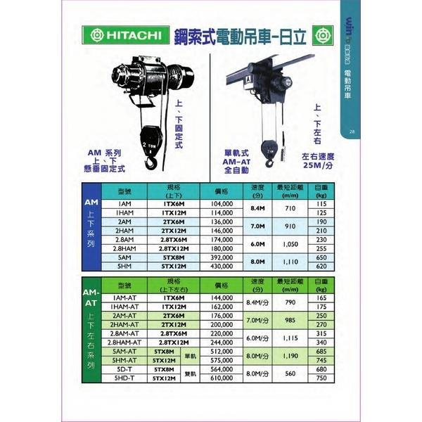 日本 HITCHI 鋼索式電動吊車