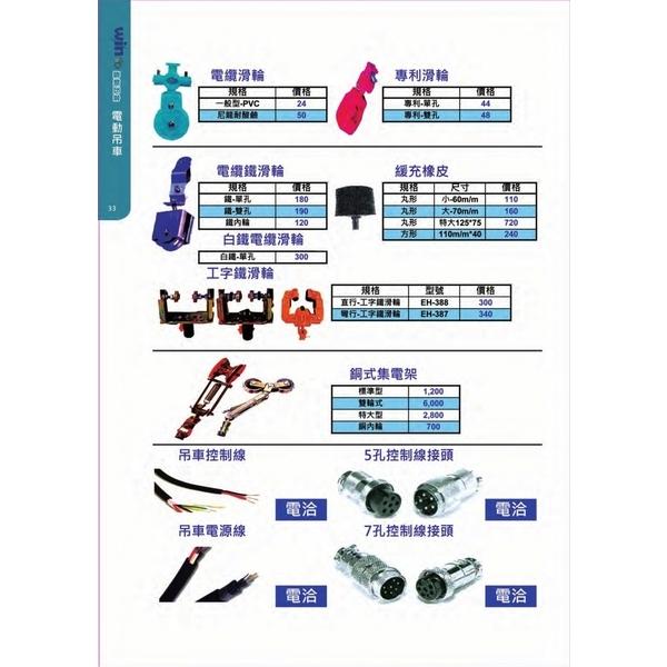 塑膠滑輪,工字鐵滑輪,控制線,控制線接頭
