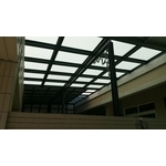 H型鋼13孔 玻璃採光罩