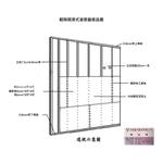 輕隔間濕式灌漿牆樣品圖-永峰室內裝修有限公司-台中輕鋼架,大里輕鋼架,太平輕鋼架,霧峰輕鋼架